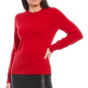TALBOTS Petites Red Classic Crew Neck Sweater Med